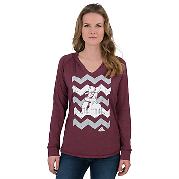 Texas A&M Aggies Adidas Hand Drawn Chevron Vault Hooded Tee