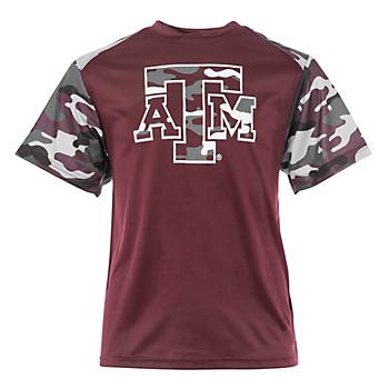 Texas A&M Aggies Badger Youth Camo Tee