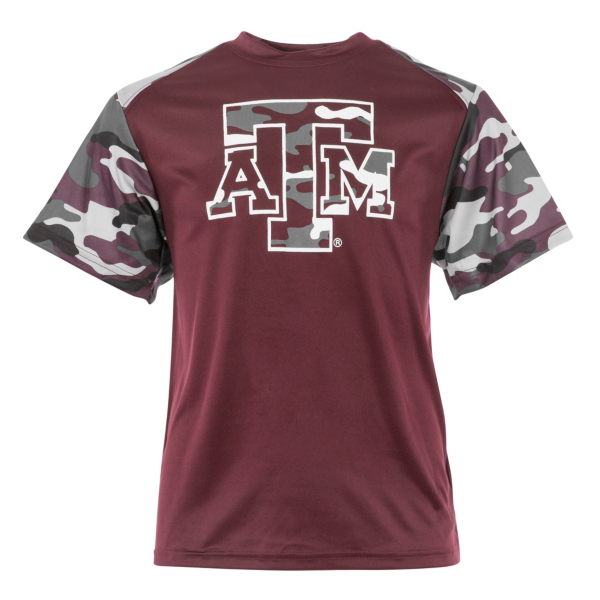 Texas A&M Aggies Badger Youth Camo Tee