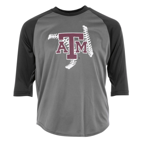 Texas A&M Aggies Badger Youth Baseball Tee