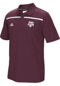 Texas A&M Aggies Adidas Climalite Coaches Sideline Polo