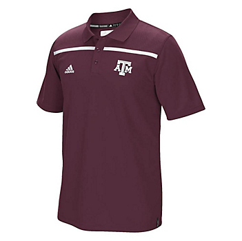 Texas A&M Aggies Adidas Climalite Coaches Sideline Polo