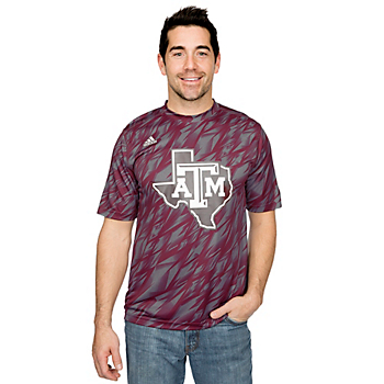 Texas A&M Aggies Adidas Shock Energy Training Tee