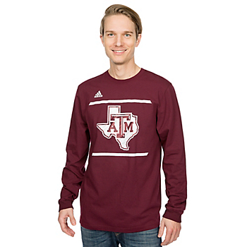 Texas A&M Aggies Adidas Energize Long Sleeve Tee