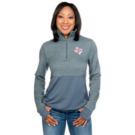 Texas A&M Aggies Adidas Womens Logo Driven Twist Half-Zip Pullover