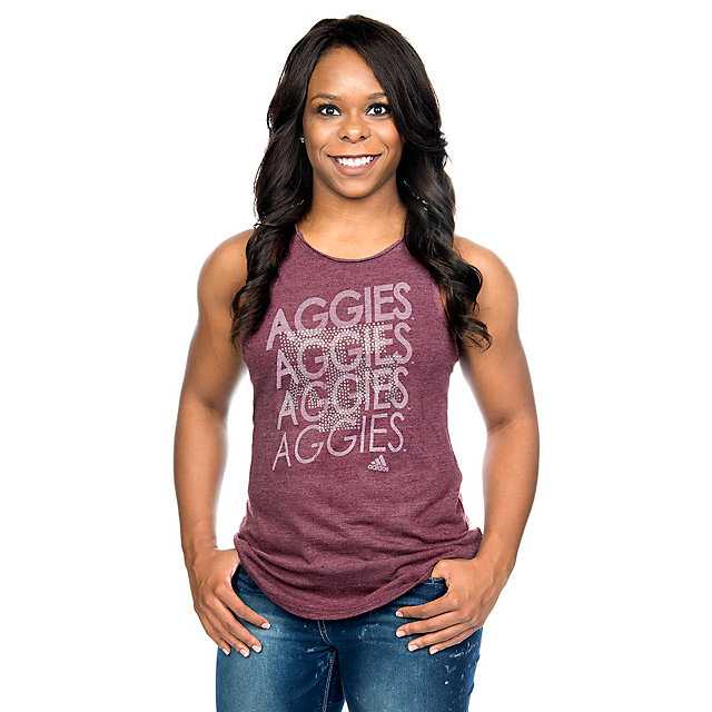 Texas A&M Aggies Adidas Womens Rhinestone Repeat Tank