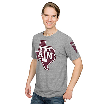 Texas A&M Aggies Adidas Triblend Brushed Logo Tee
