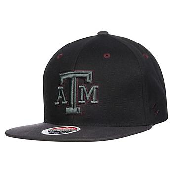 Texas A&M Aggies Zephyr Z11 Blackout Snapback