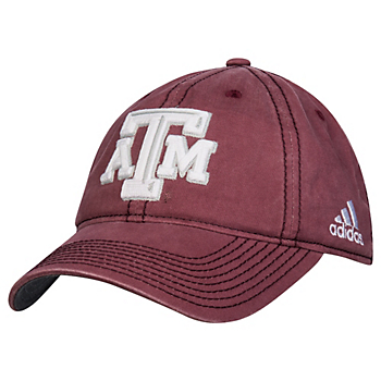 meet be1b4 c8b27 Texas A M Aggies Adidas Washed Slouch Adjustable Cap