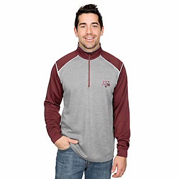 Texas A&M Aggies Antigua Breakdown 1/4 Zip Fleece Pullover
