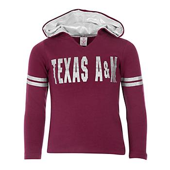 Texas A&M Aggies Girls Glitter Hoodie