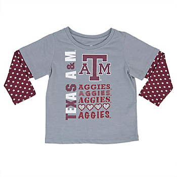 Texas A&M Aggies Colosseum Toddler Super Cool Layered Tee