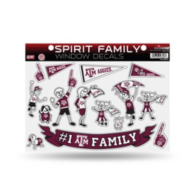 Texas A&M Aggies Large Family Sticker Set