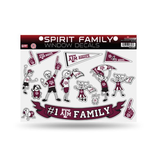 Texas A&M Aggies Large Family Sticker Set