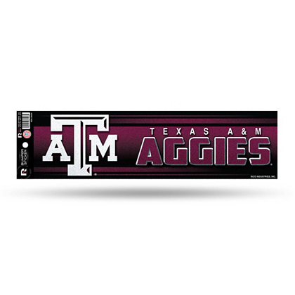 Texas am aggies bling bumper sticker automotive accessories texas am ncaa fans united