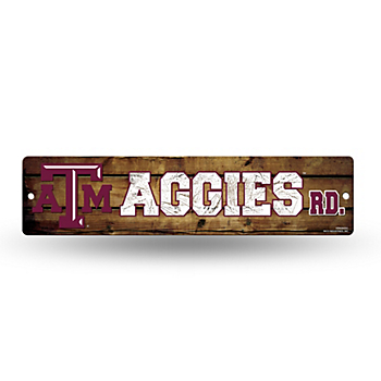 Texas A&M Aggies Plastic Street Sign
