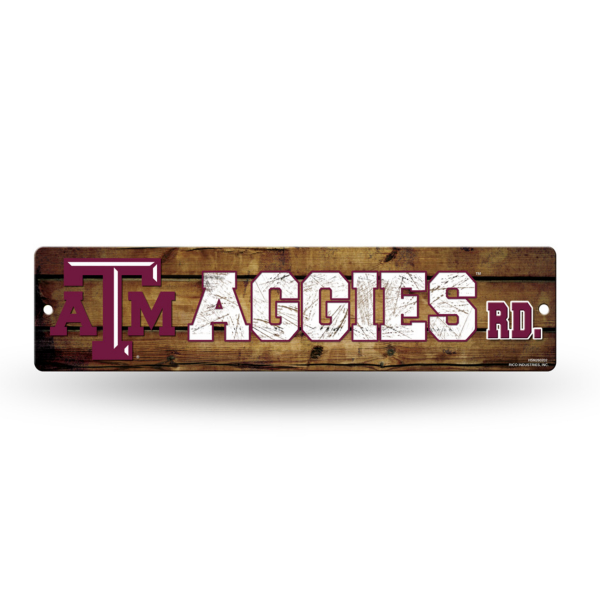 Texas A&M Aggies Plastic Street Sign