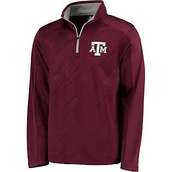 Texas A&M Aggies Colosseum Sleet Embossed 1/4 Zip Fleece Pullover