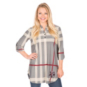 Texas A&M Aggies 3/4 Sleeve Plaid Tunic