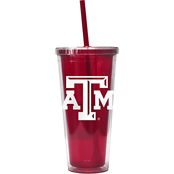 Texas A&M Aggies 22 oz. Double-Walled Straw Tumbler