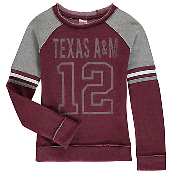 Texas A&M Aggies Girls Colosseum Axel Fleece Pullover Crew
