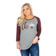 Texas A&M Aggies 47 Womens Gradient Script Raglan T-Shirt