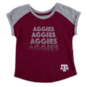 Texas A&M Aggies Colosseum Toddler Girls Go Kart Cuffed T-Shirt