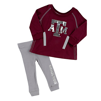 Texas A&M Aggies Colosseum Infant Girls Nice Kick Tunic and Legging Set