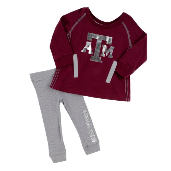 Texas A&M Aggies Colosseum Infant Girls Nice Kick Tunic and Legging Set