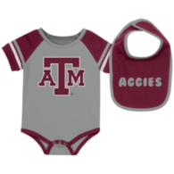 Texas A&M Aggies Colosseum Infant Roll-Out Onesie and Bib Set