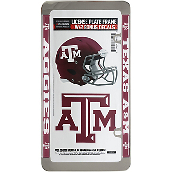Texas A&M Aggies License Plate Frame and Decal Pack