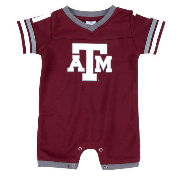 Texas A&M Aggies Colosseum Infant Boys One Time Football Onesie Romper