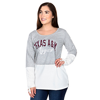 Texas A&M Aggies Womens Gameday Couture Color Block Top