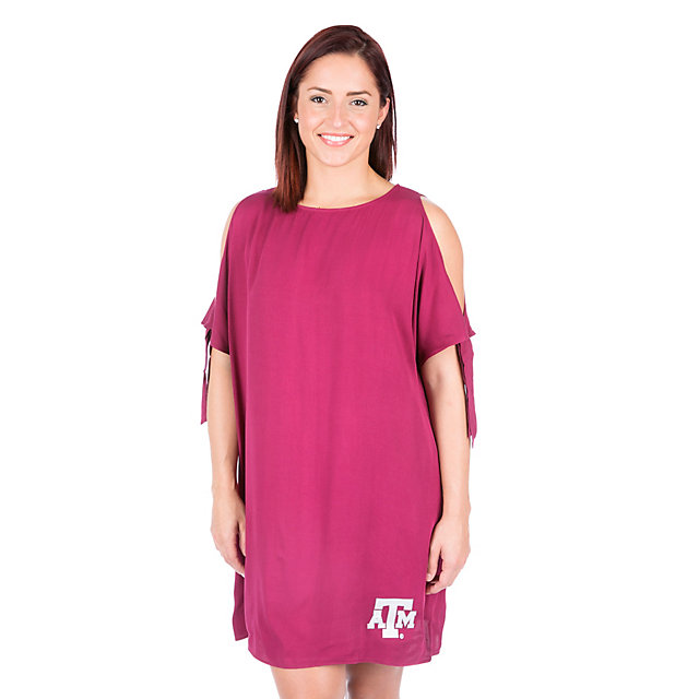 Texas A&M Aggies Womens Cold Shoulder Dress