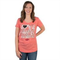 Arkansas Razorbacks 5th & Ocean Relaxed Triblend Scoop Tee