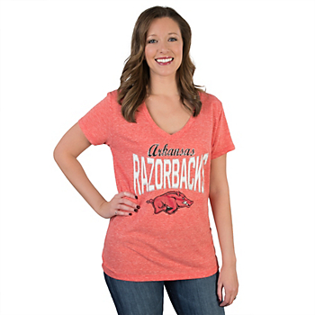 Arkansas Razorbacks 5th & Ocean Relaxed V-Neck Tee