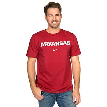 Arkansas Razorbacks Nike Wordmark Cotton Tee
