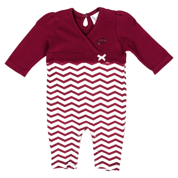Arkansas Razorbacks Chevron Long Leg Romper