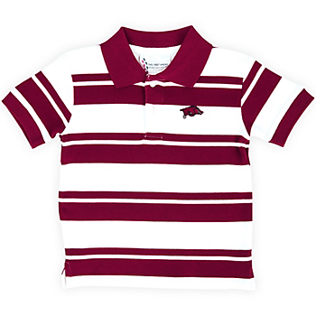 Arkansas Razorbacks Toddler Rugby Golf Shirt
