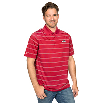 Arkansas Razorbacks Antigua Deluxe Polo