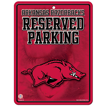 Arkansas Razorbacks Metal Parking Sign
