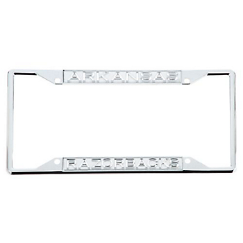 Arkansas Razorbacks Acrylic Silver Matte License Plate Frame