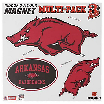 Arkansas Razorbacks 12x12 Multi-Pack Magnets