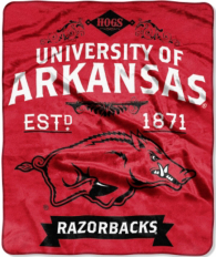 Arkansas Razorbacks Raschel Throw