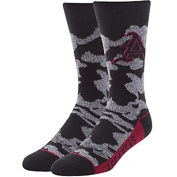 Arkansas Razorbacks 47 Black Bayonet Fuse Socks