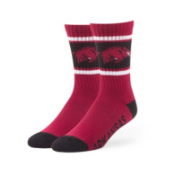 Arkansas Razorbacks 47 Dark Red Duster Sport Socks