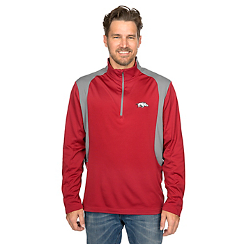 Arkansas Razorbacks Antigua Delta Quarter Zip Fleece