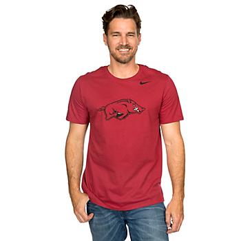 Arkansas Razorbacks Nike Cotton Short Sleeve Logo Tee