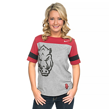Arkansas Razorbacks Womens Driven Fan Tee