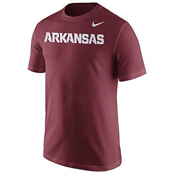 Arkansas Razorbacks Nike Short Sleeve Wordmark Tee